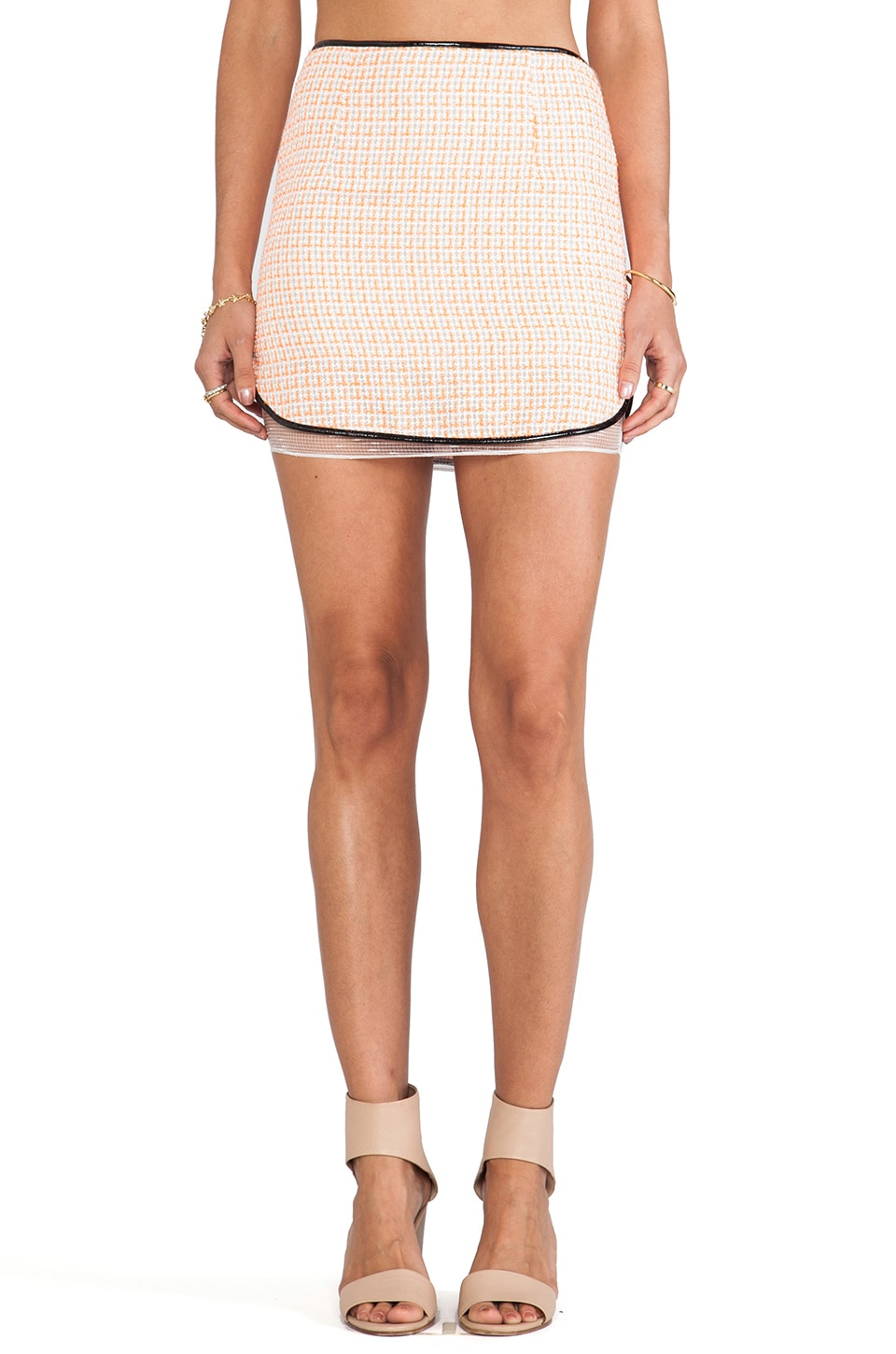 Line & Dot Madame Beverly Skirt in Fanta Tweed