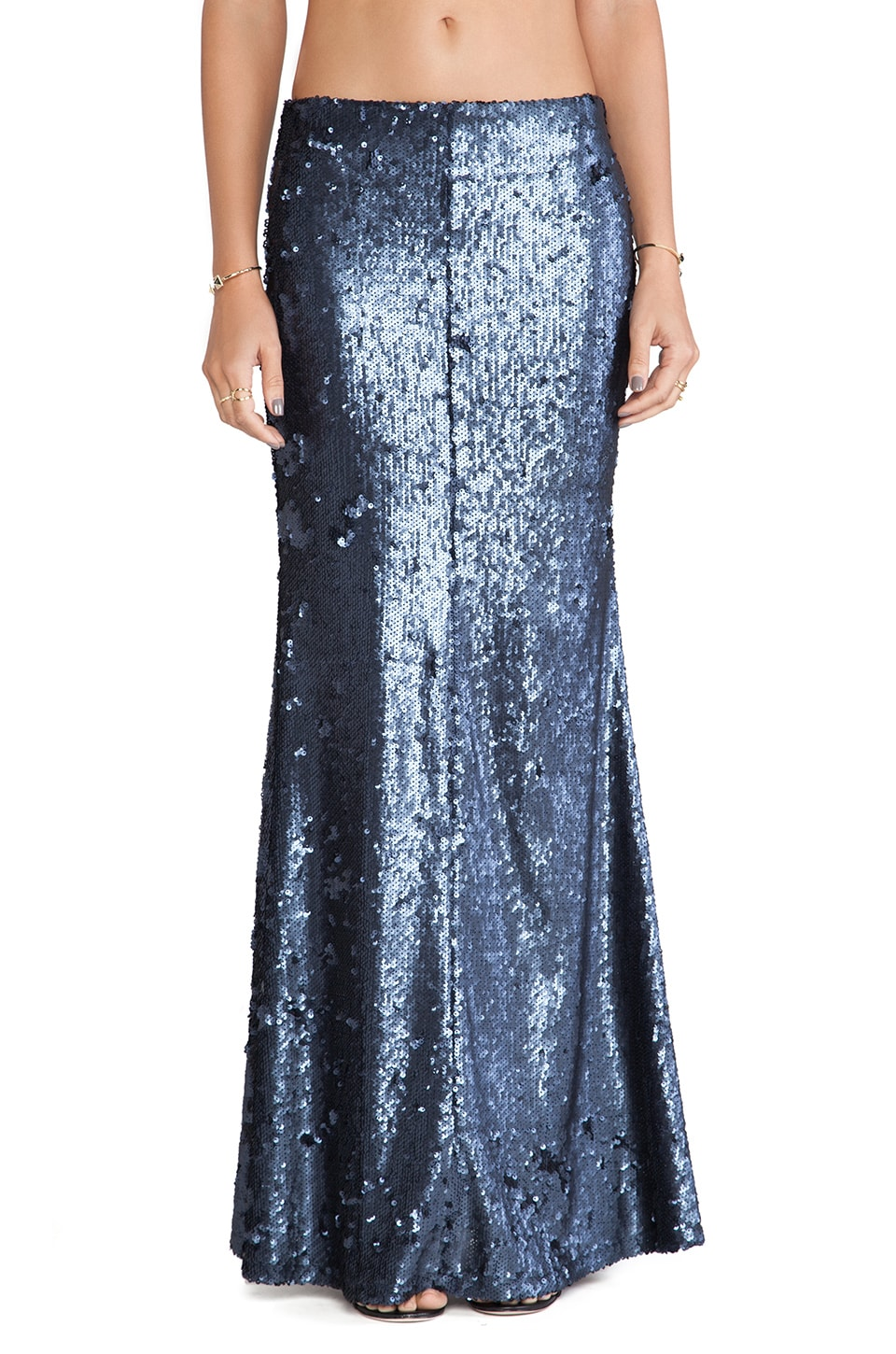 Line & Dot Seymour Sequin Skirt in Navy | REVOLVE