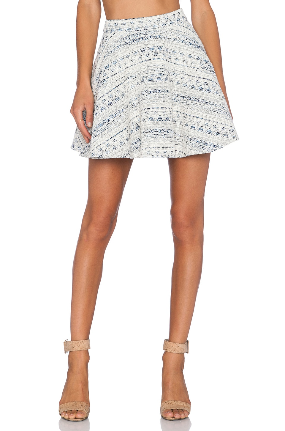 Line & Dot Saint Germain Skirt in Multi Blue