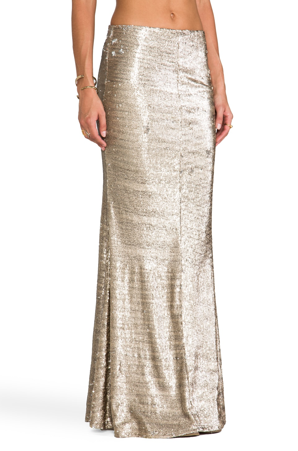 Line & Dot Sequin Mermaid Skirt in Gold | REVOLVE