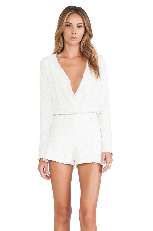 Line & Dot Kirsten Romper in White