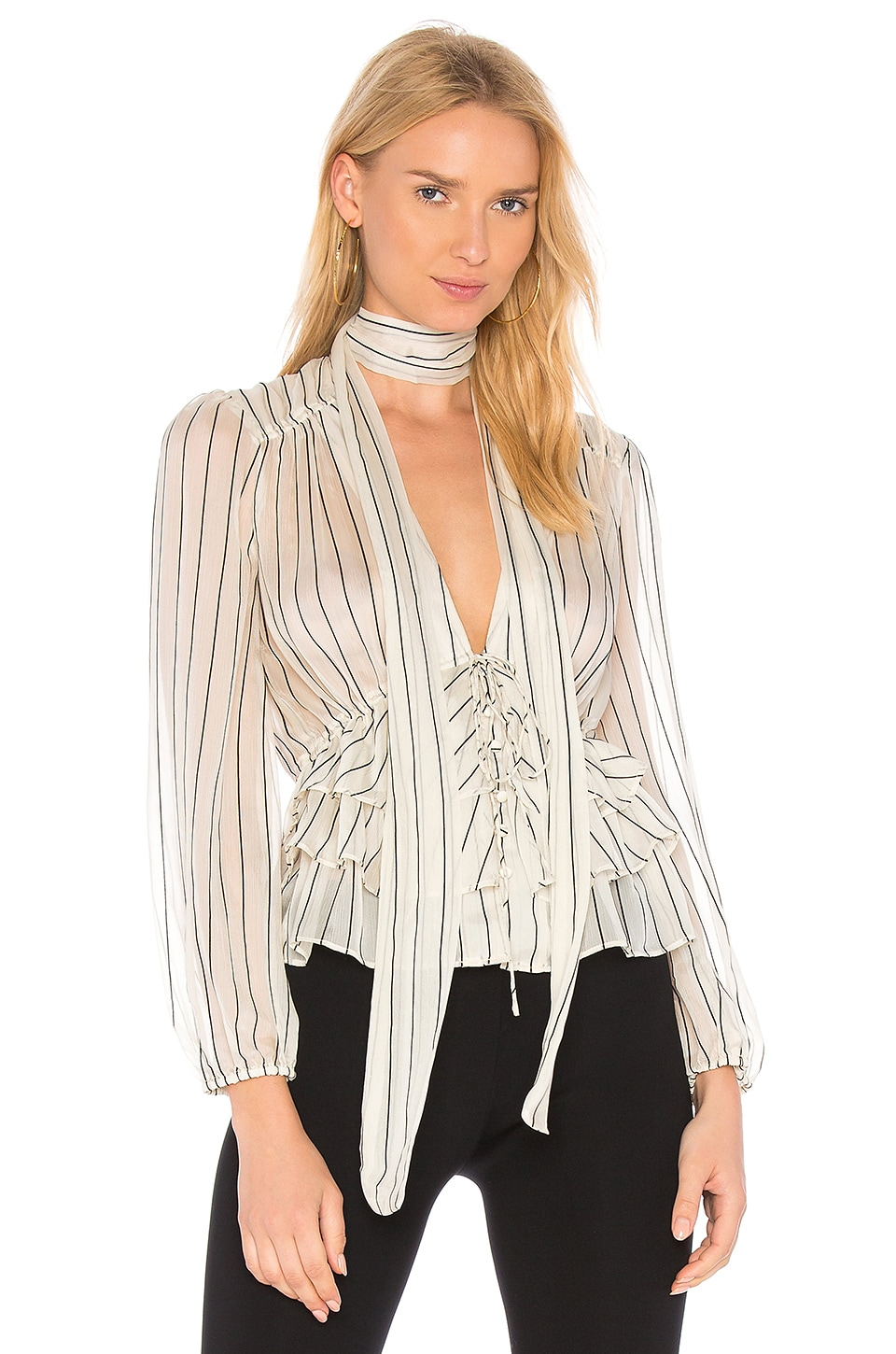 Line & Dot Ivory Jacqui Blouse In Ivory