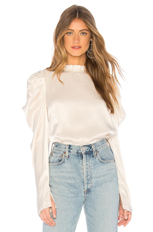 Line & Dot Kilia Puff Sleeve Top in Cream