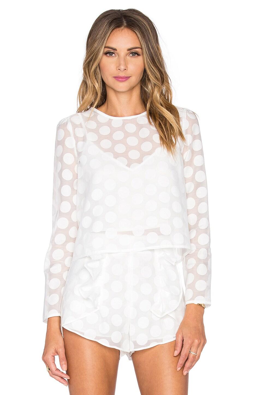 Line & Dot Soleil Dot Blouse in White