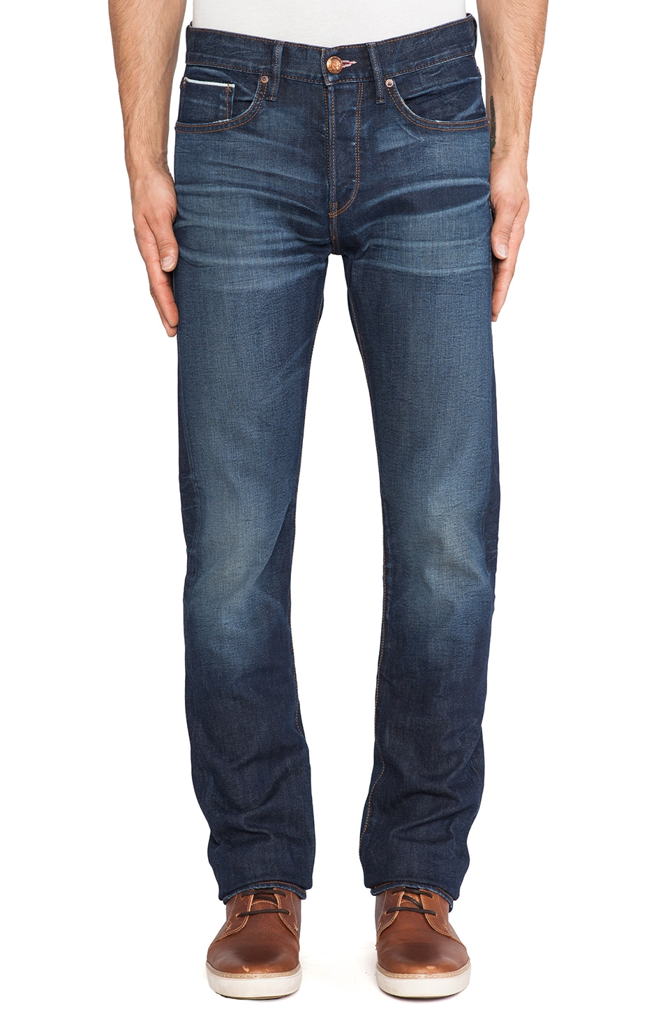 Lee 101 Lean Straight Selvage in Stock Yard