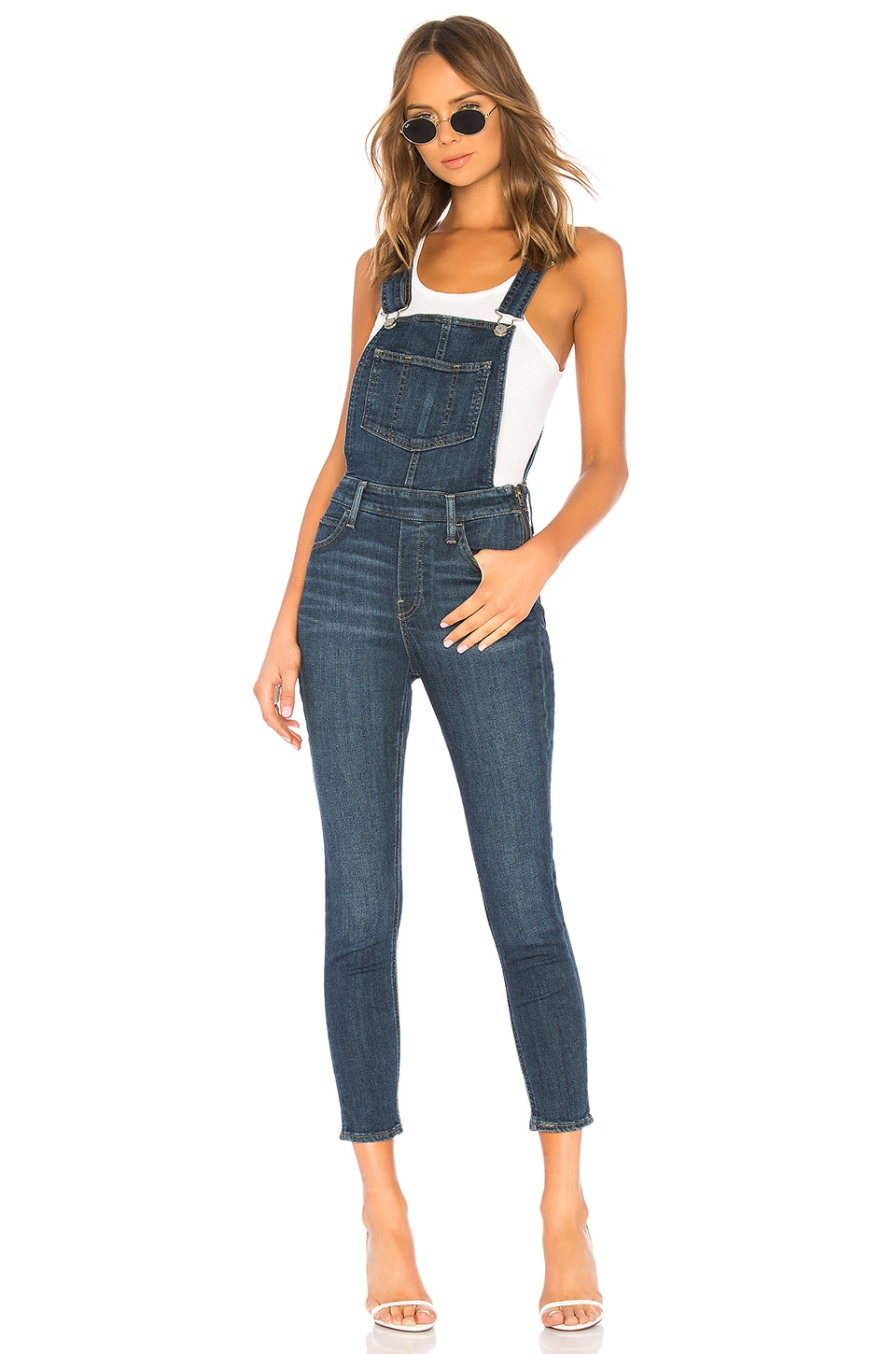 Skinny Denim Overalls In Over And Out in Over & Out