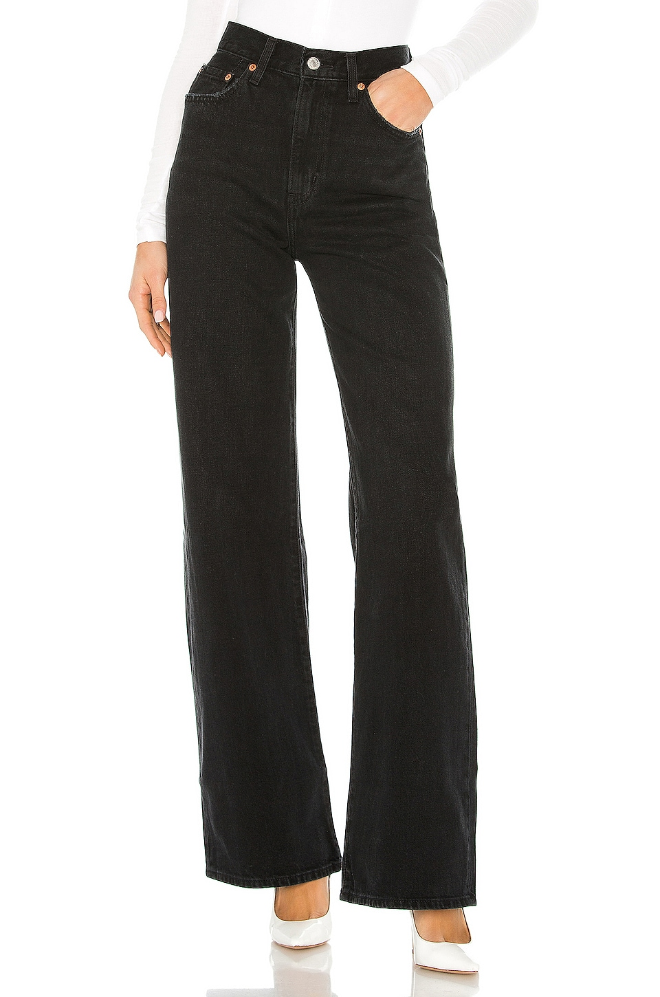 LEVI'S Ribcage Wide Leg in Black Book RC