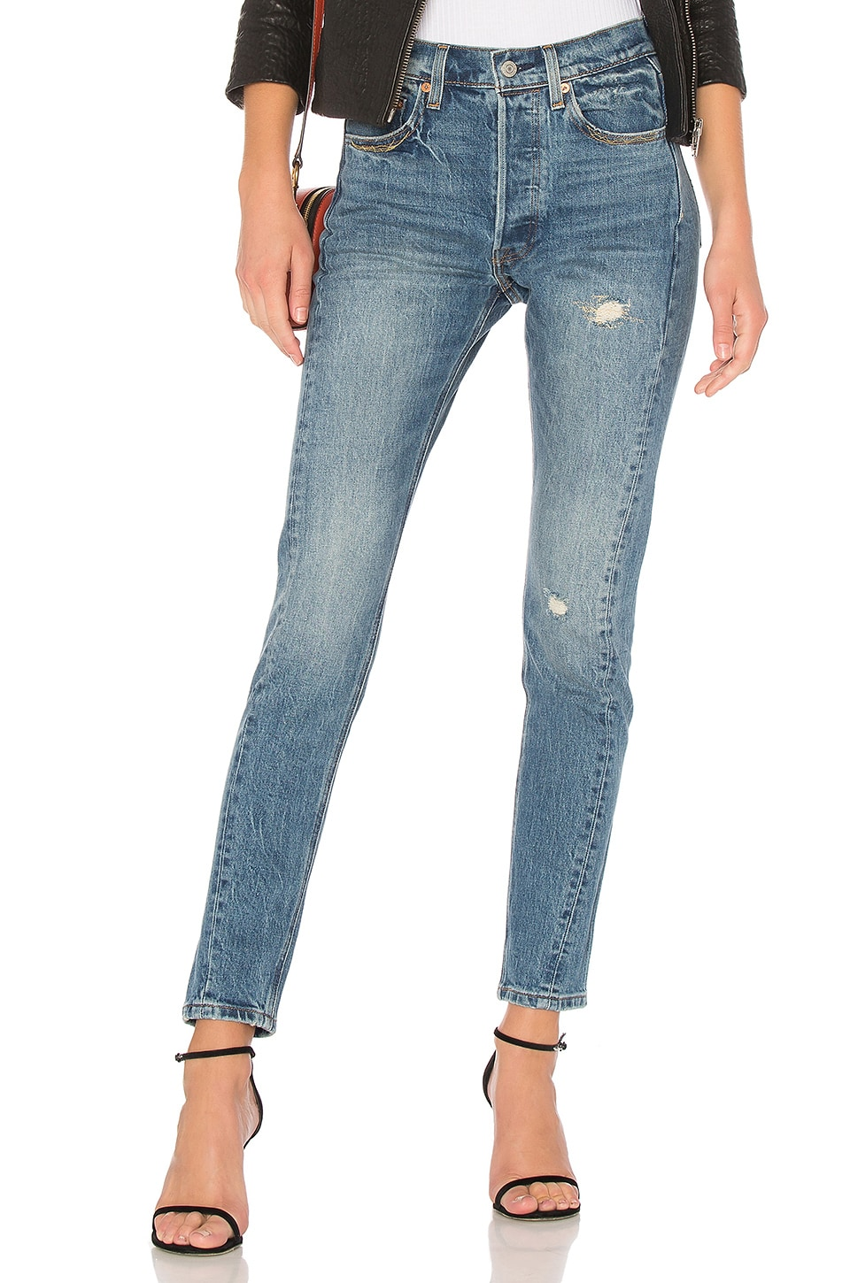 photos officielles 66a37 a910e LEVI'S 501 Skinny Altered in Moody Blues | REVOLVE