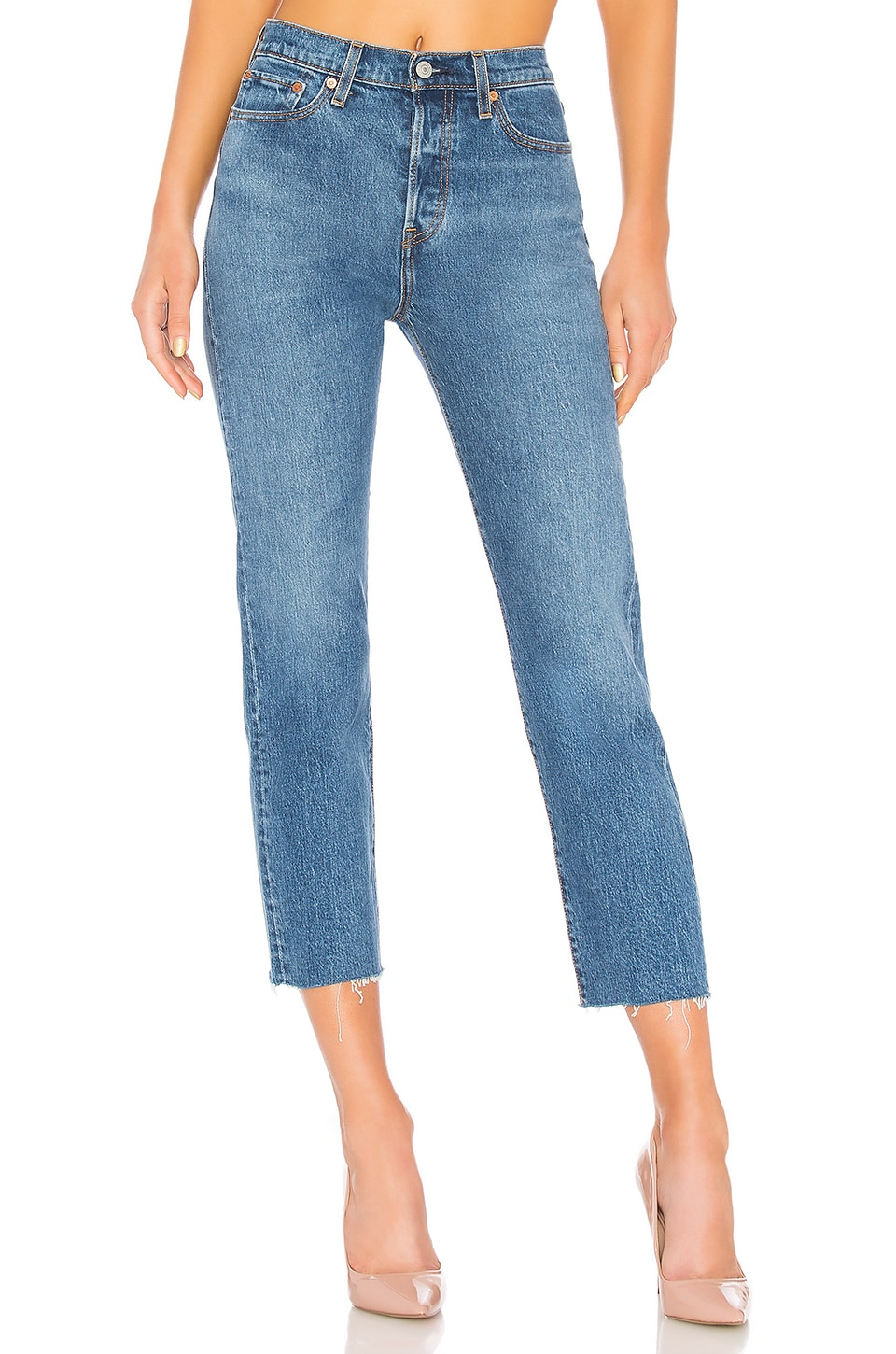 WEDGIE CROP STRAIGHT JEANS IN LOVE TRIANGLE