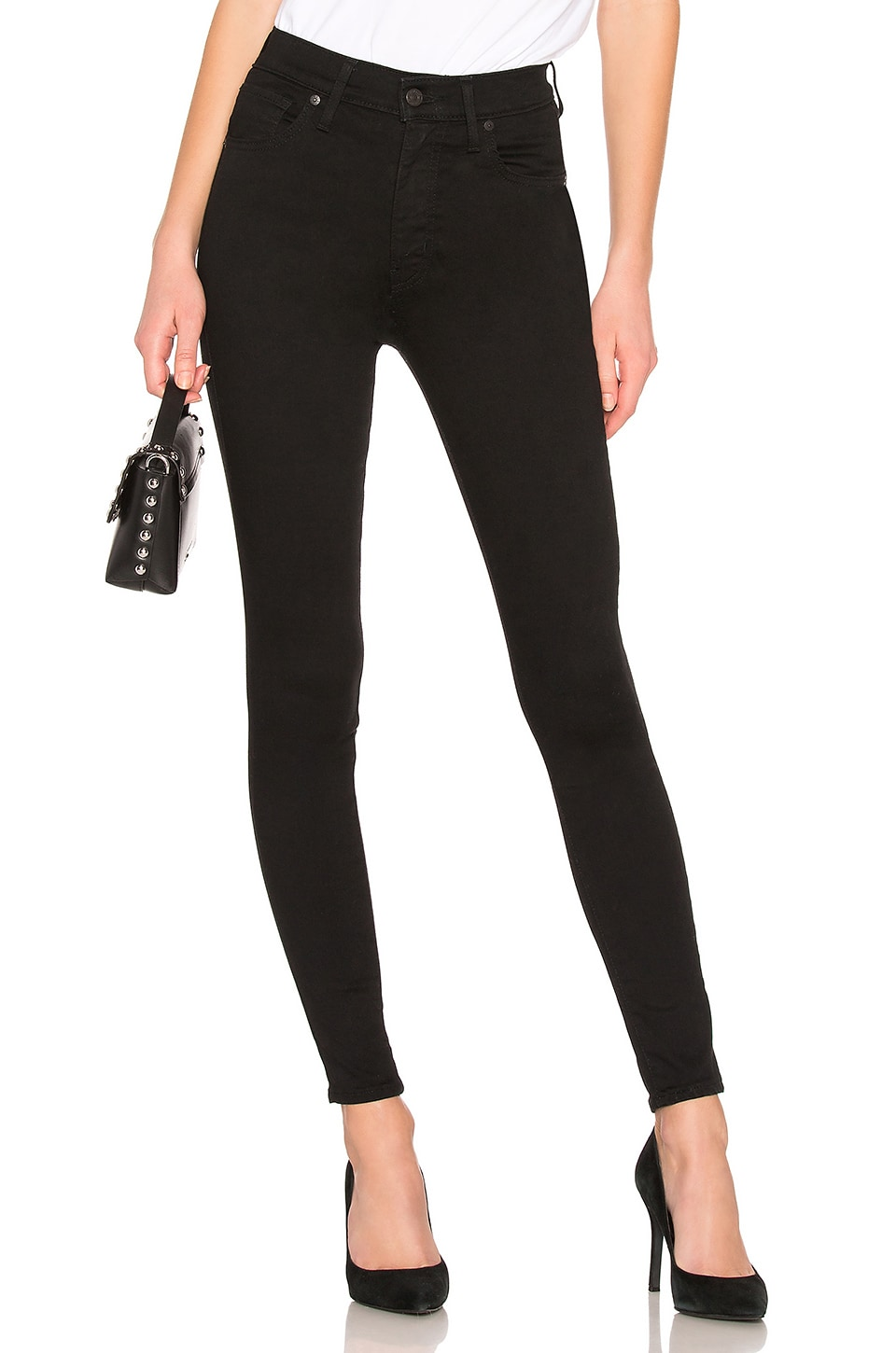 LEVI'S Mile High Super Skinny in Black Galaxy