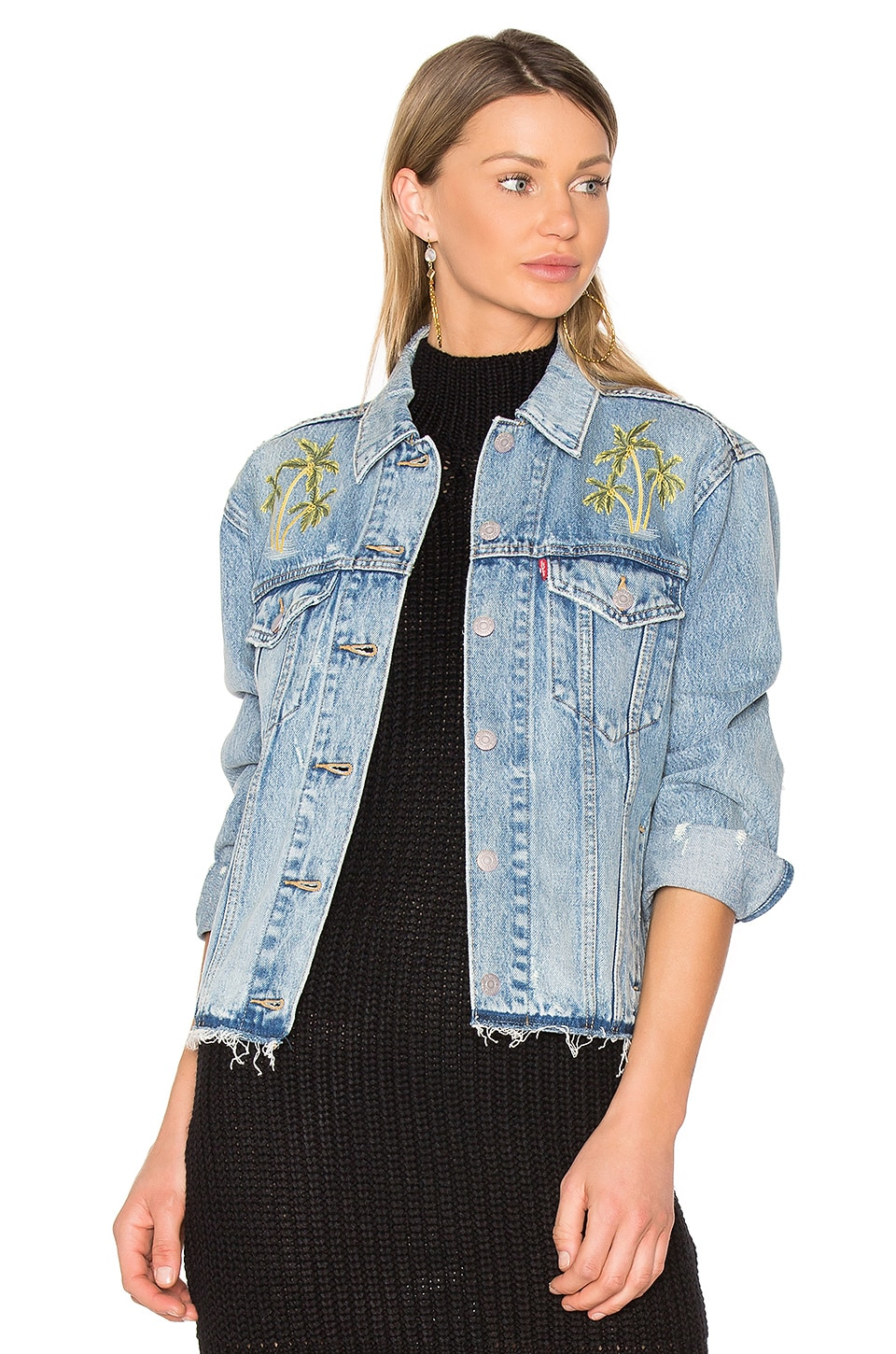 Palm Embroidered Denim Jacket by LEVI'S