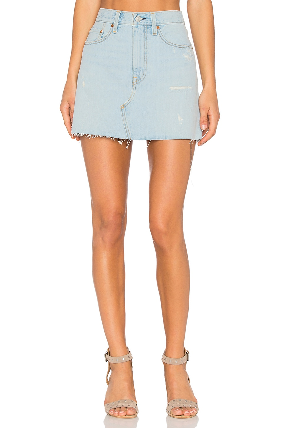 75e4a39a9f LEVI'S Deconstructed Skirt in Live Wire | REVOLVE