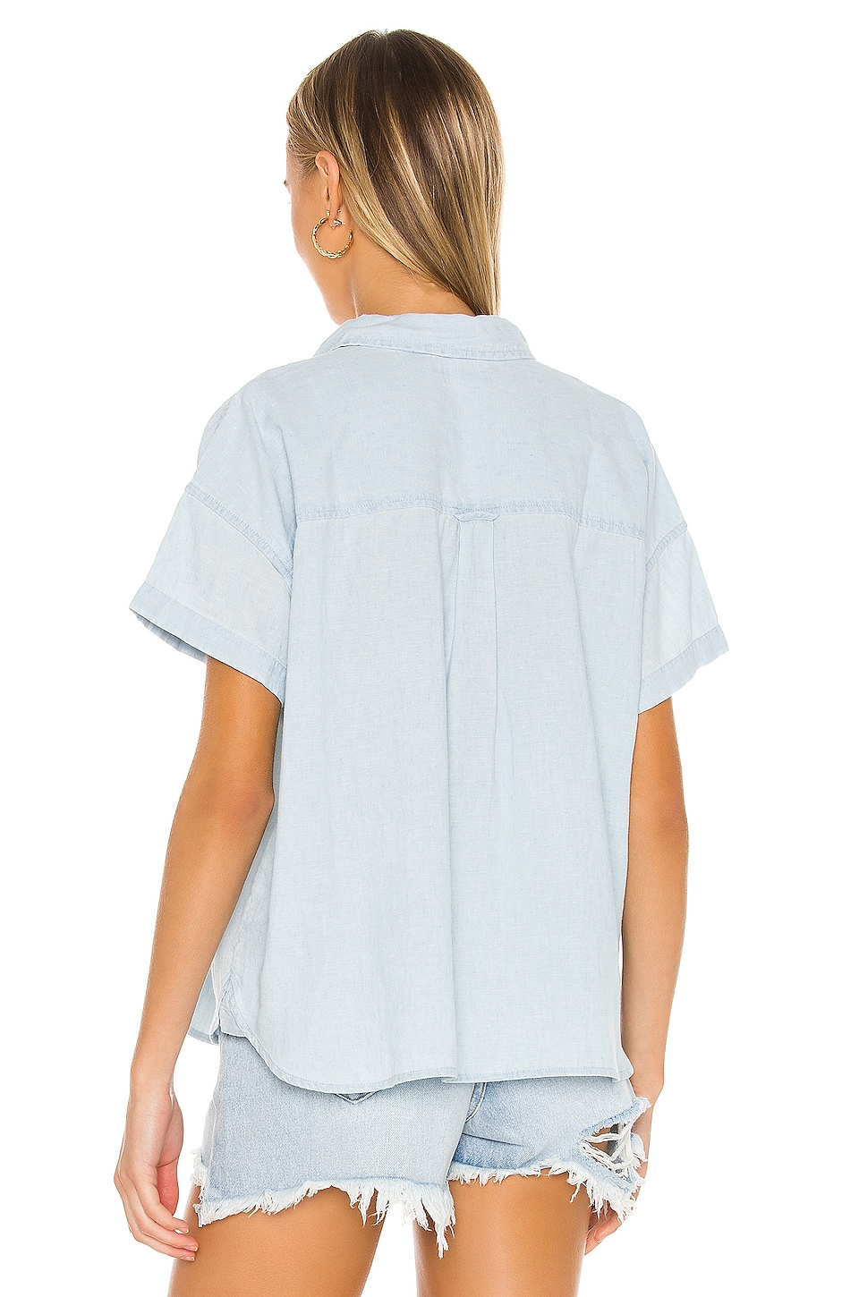 The Short Sleeve Alexandra Shirt, view 3, click to view large image.