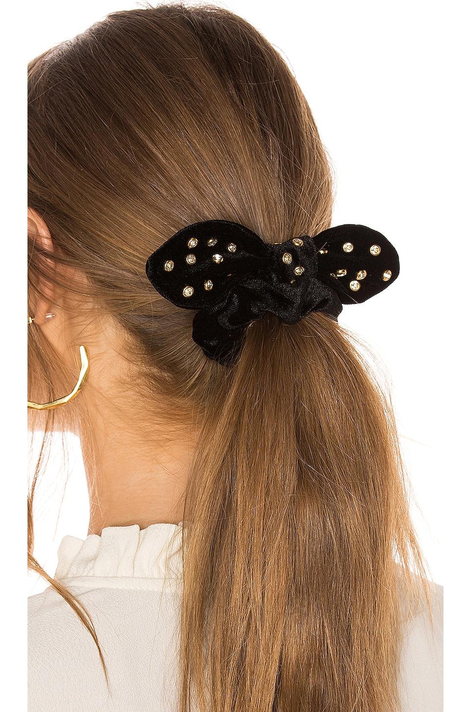 Lele Sadoughi Crystal Scrunchie in Black Crystal