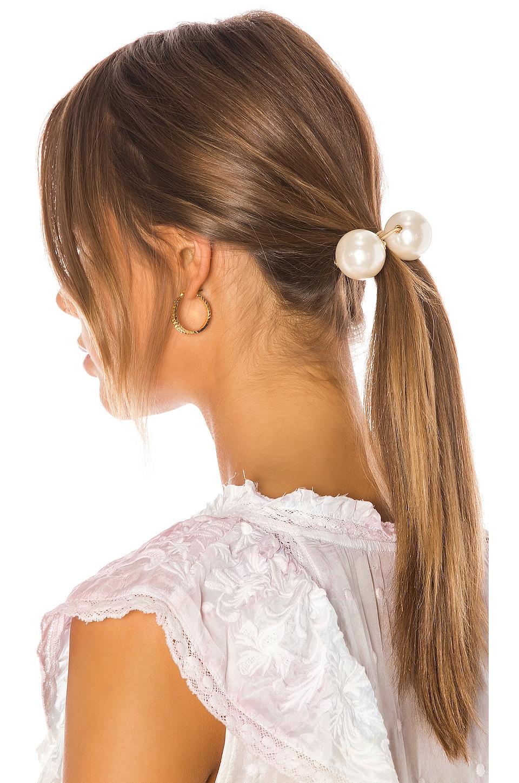 Lele Sadoughi Gumball Hair Tie in Pearl