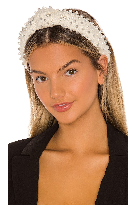 Lele Sadoughi Woven Pearl Headband in Ivory