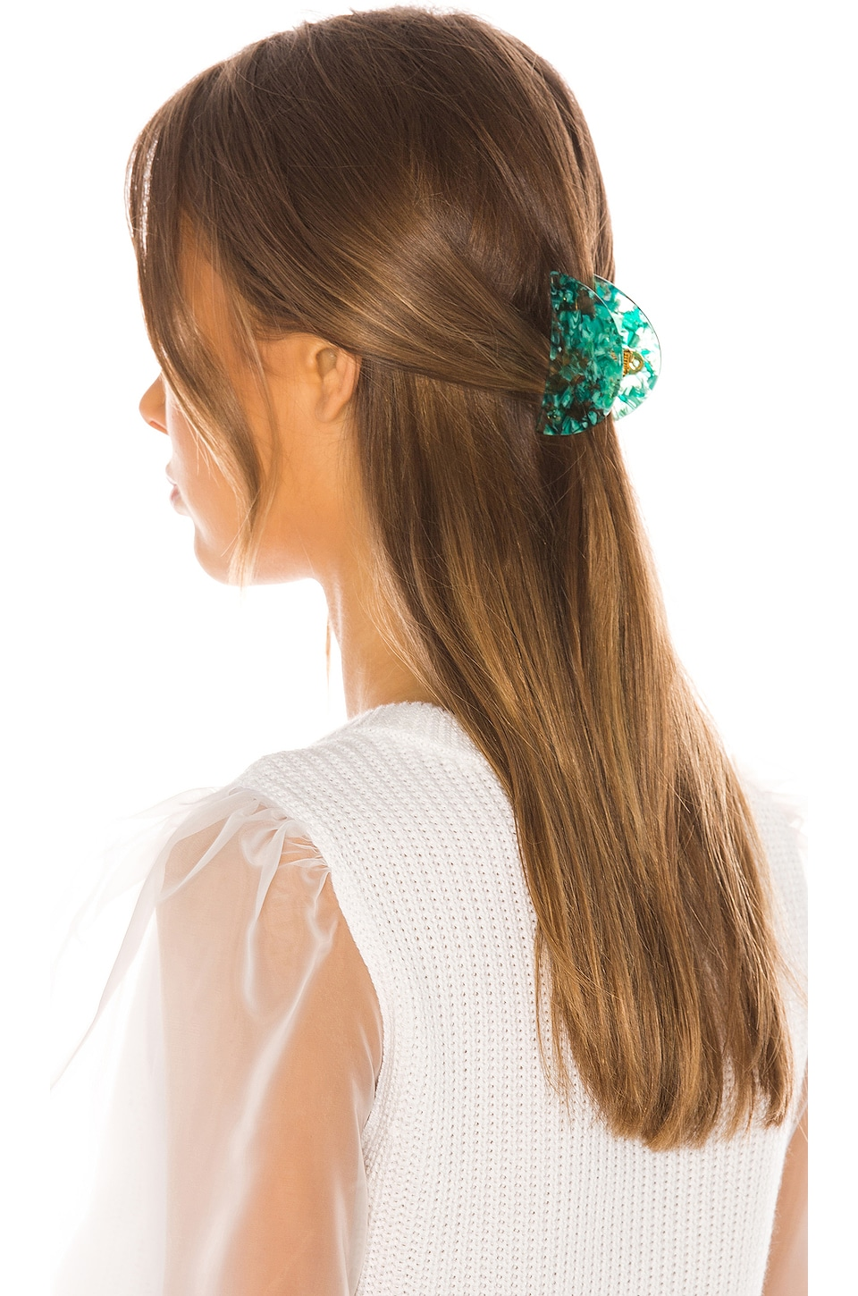 Lele Sadoughi Claw Clip in Turquoise