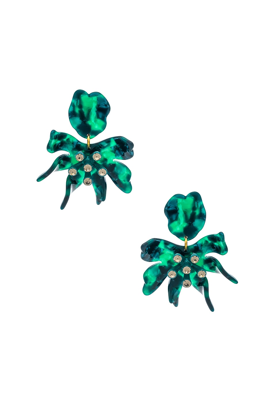 Lele Sadoughi Daffodil Earrings in Emerald