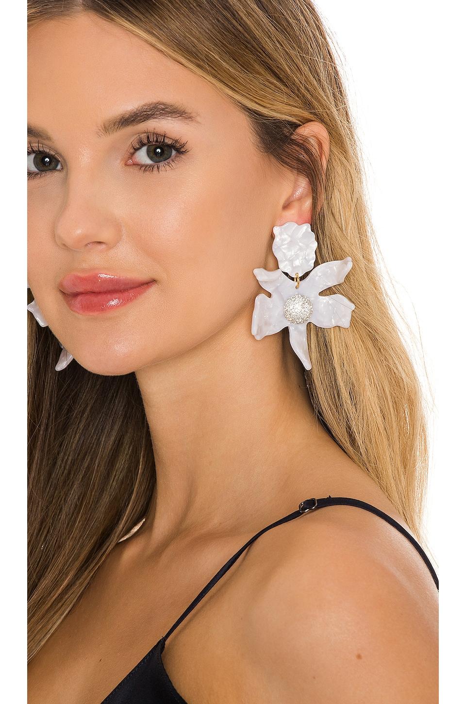 Lele Sadoughi Crystal Lily Earring in Mother Of Pearl