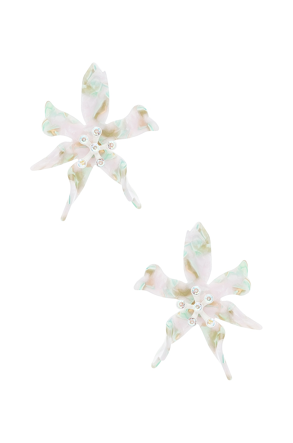 Lele Sadoughi Water Lily Earrings in Moonstone