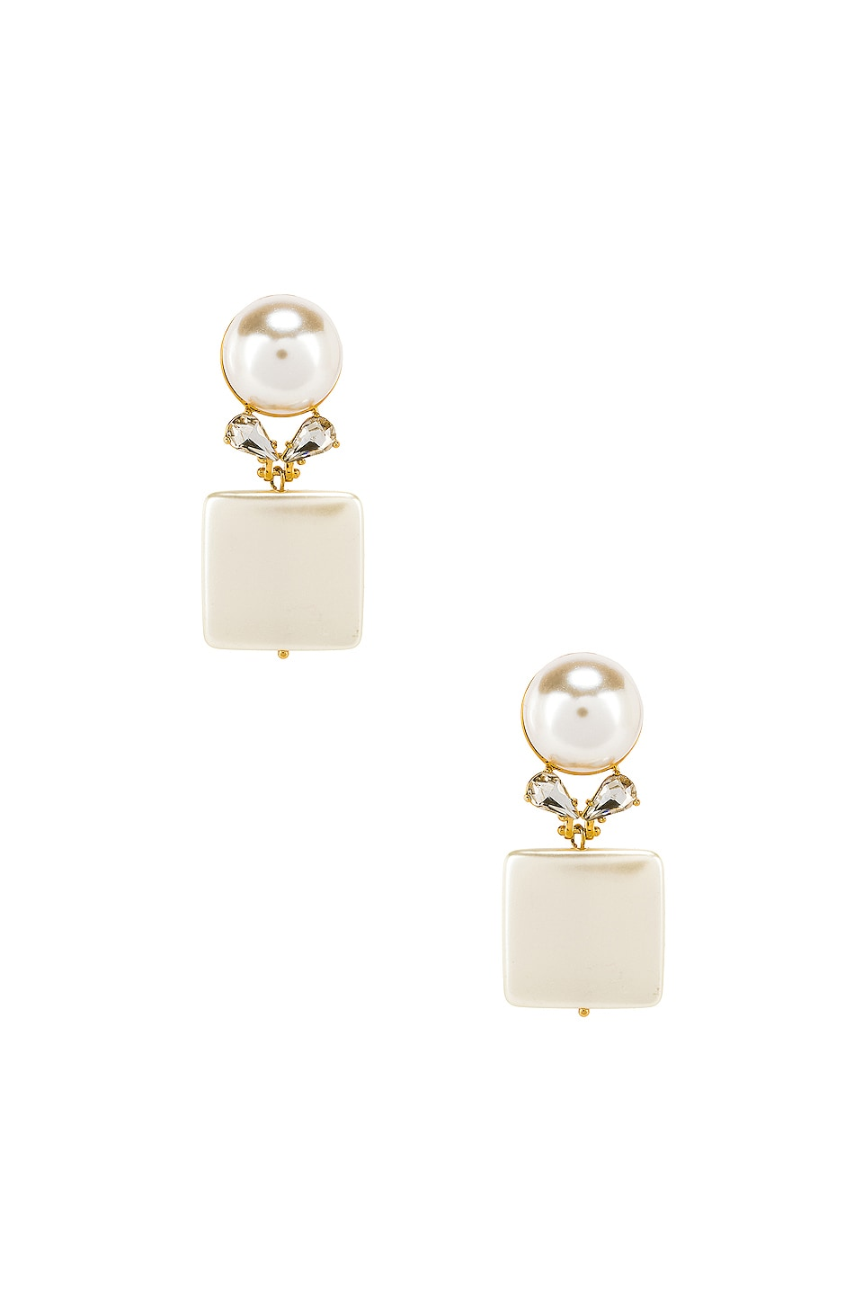 Lele Sadoughi Stone Starlet Earrings in Pearl