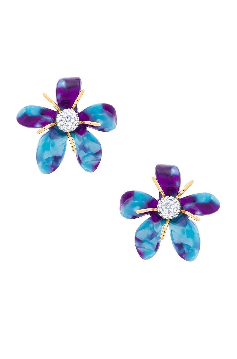 Lele Sadoughi Trumpet Lily Earrings in Electric Blue