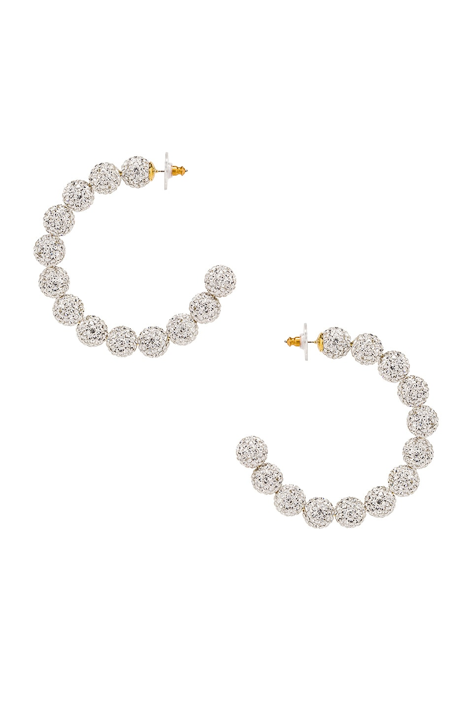 Lele Sadoughi Stardust Crystal Hoop Earrings in Crystal