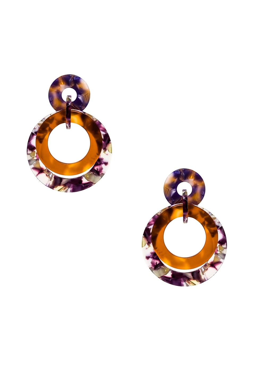 Banded Hoop Earrings