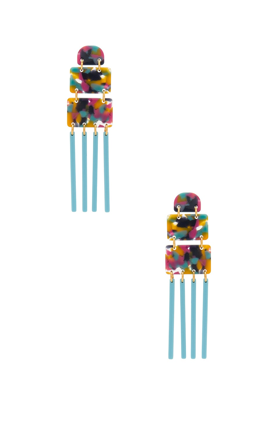 Lele Sadoughi Carnival Earring in Jungle Punch