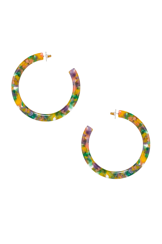 Lele Sadoughi Oversize Broadway Hoop Earrings in Pastel Confetti