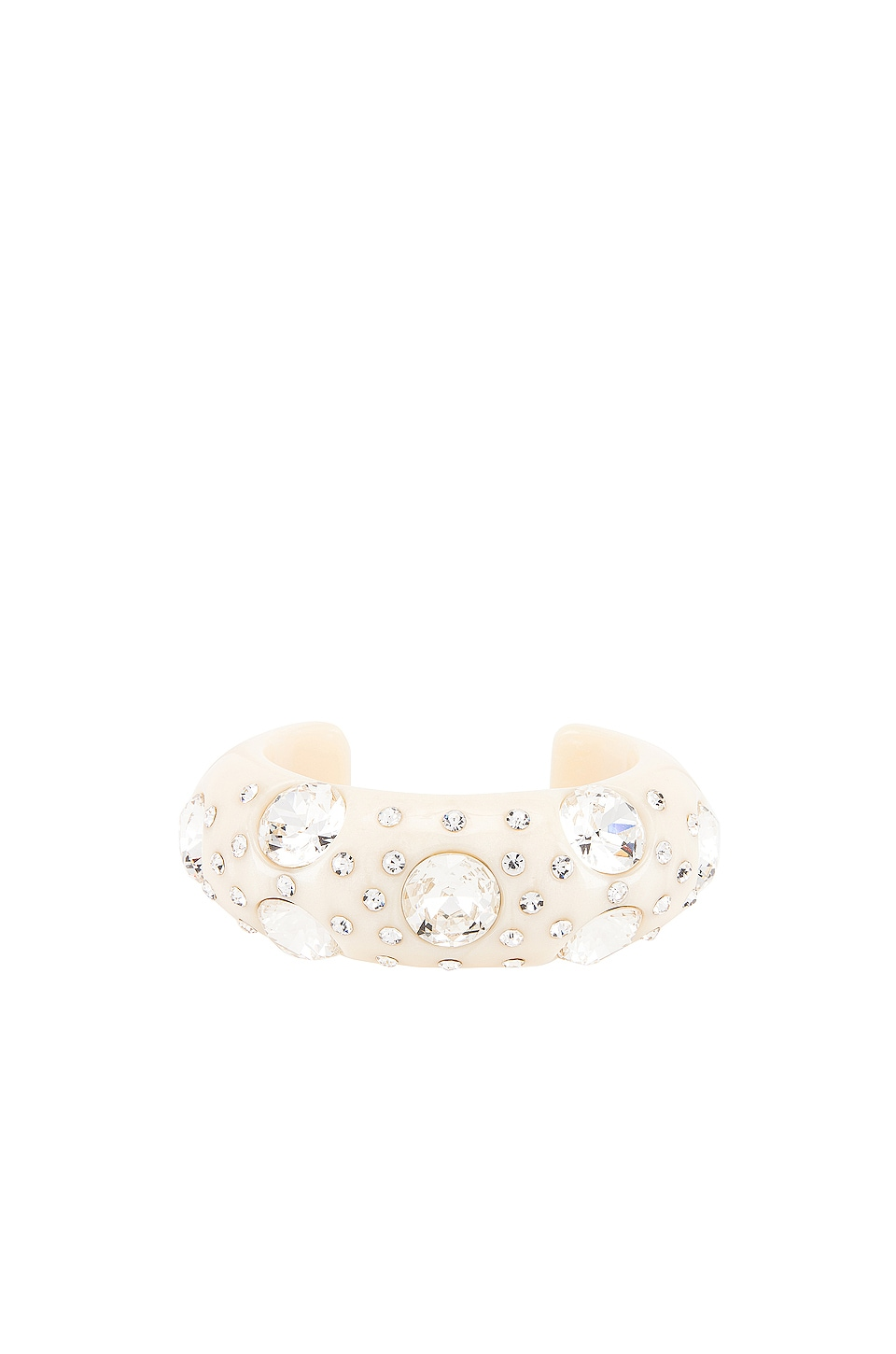 Lele Sadoughi Crystal Studded Cuff in Ivory