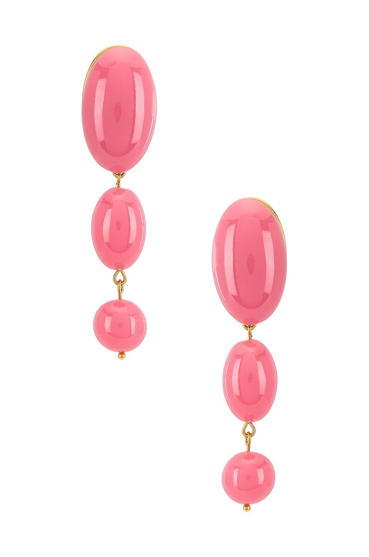 Lele Sadoughi Mini Bubble Drop Earrings in Watermelon