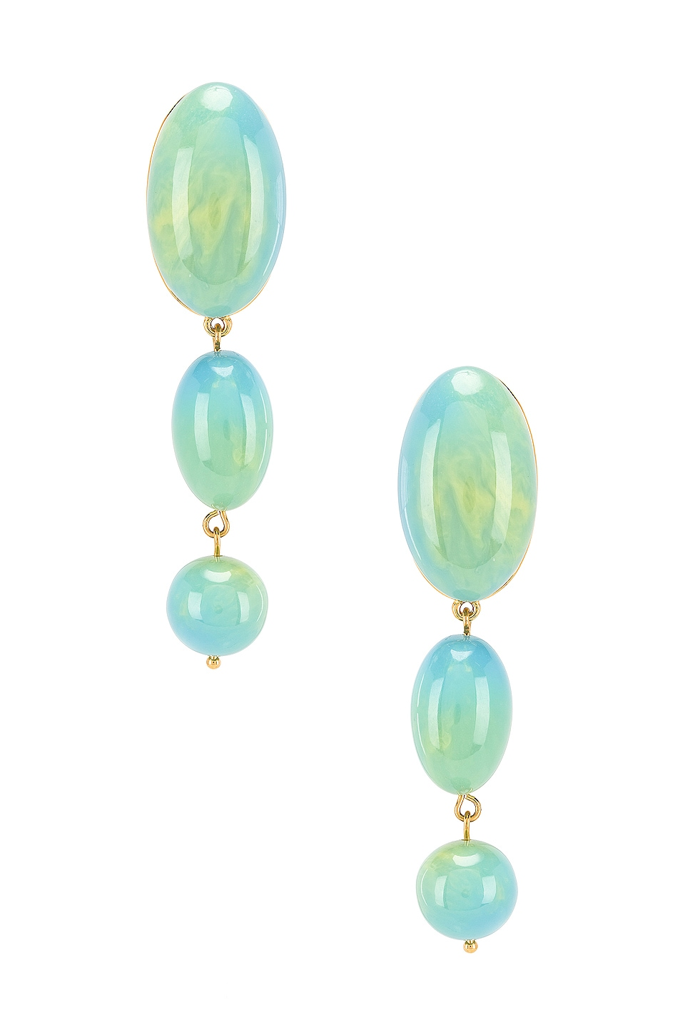 Lele Sadoughi Mini Bubble Drop Earrings in Aqua