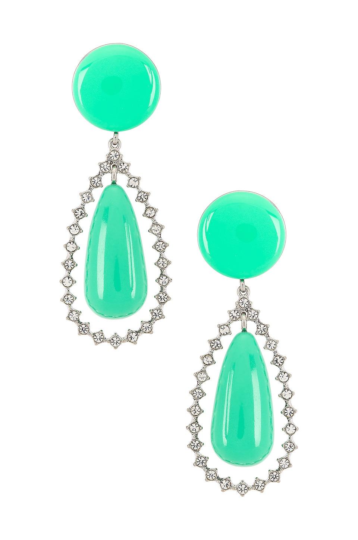 Lele Sadoughi Crystal Teardrop Earrings in Pistachio