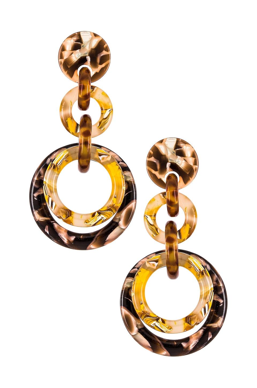Lele Sadoughi Loop De Loop Earrings in Honey