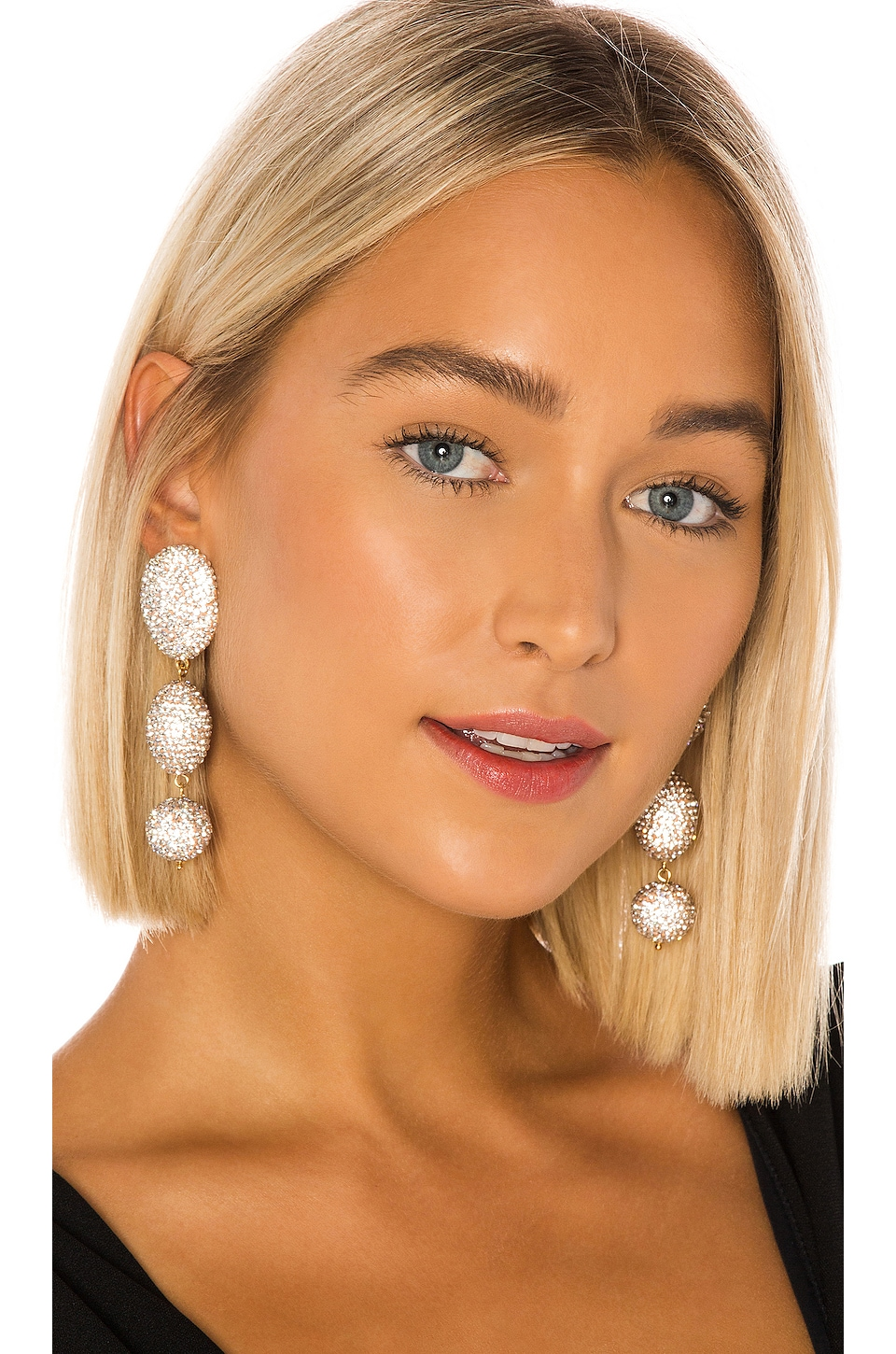 Lele Sadoughi Crystal Bubble Drop Earrings in Crystal