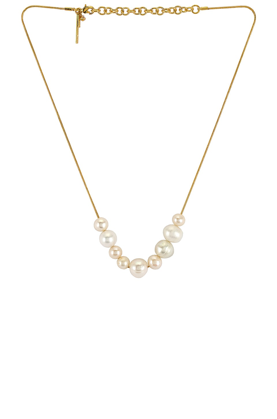 Lele Sadoughi Freshwater Mixed Pearl Necklace in Pearl