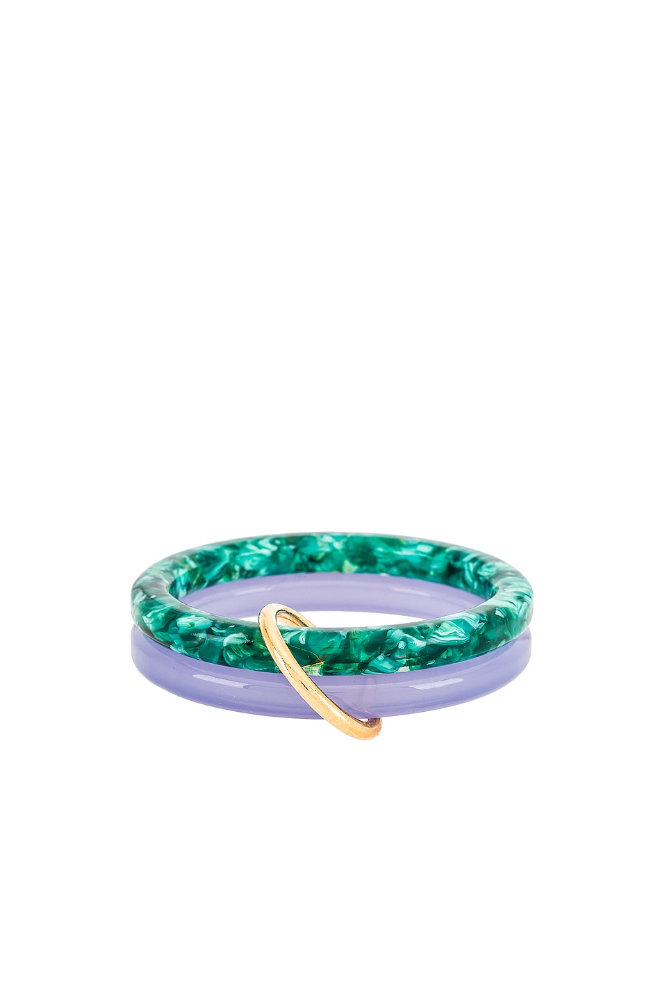 Lele Sadoughi Bangle Set in Periwinkle