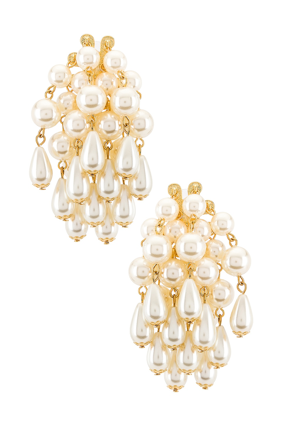Lele Sadoughi Pearl Cluster Earrings in Pearl