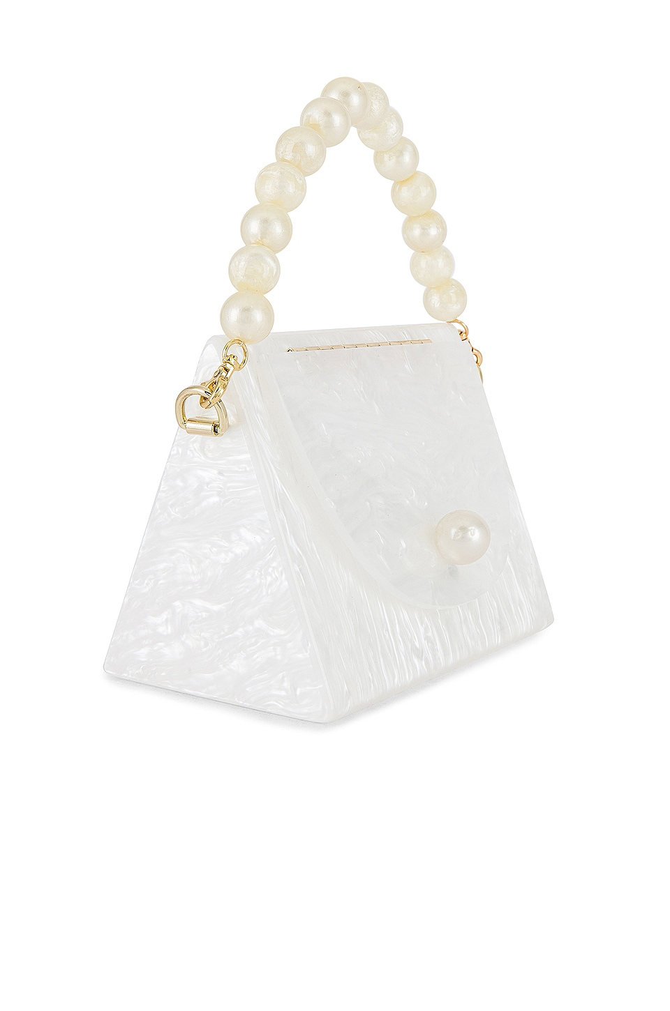 Lele Sadoughi Tent Bag in Mother Of Pearl
