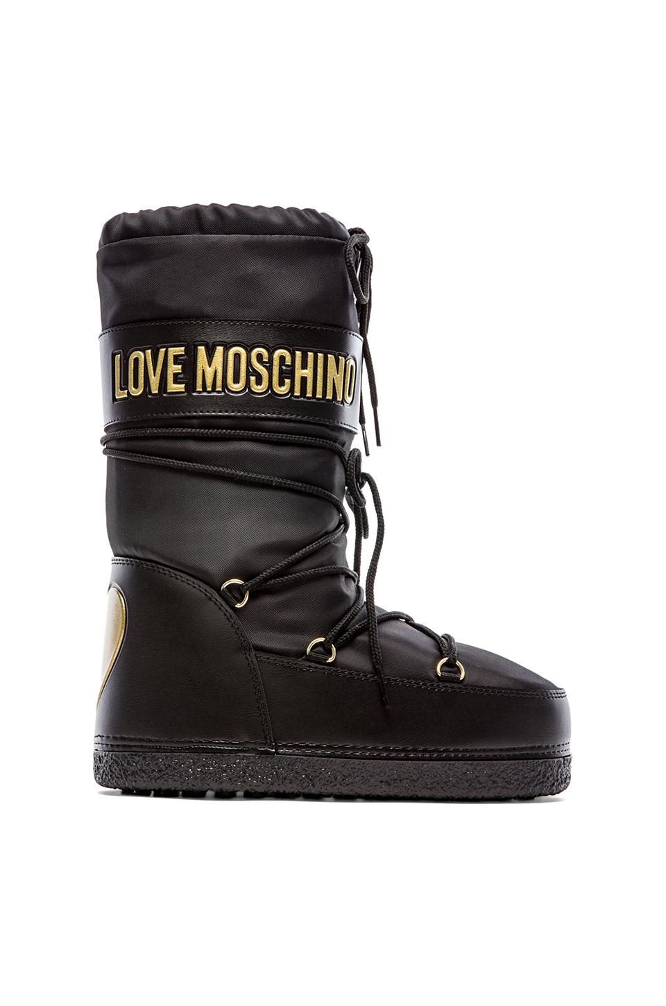 Love Moschino Love Boot in Black