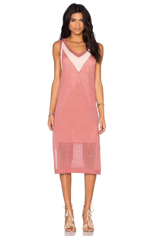 V Neck Midi Dress by LEO & SAGE