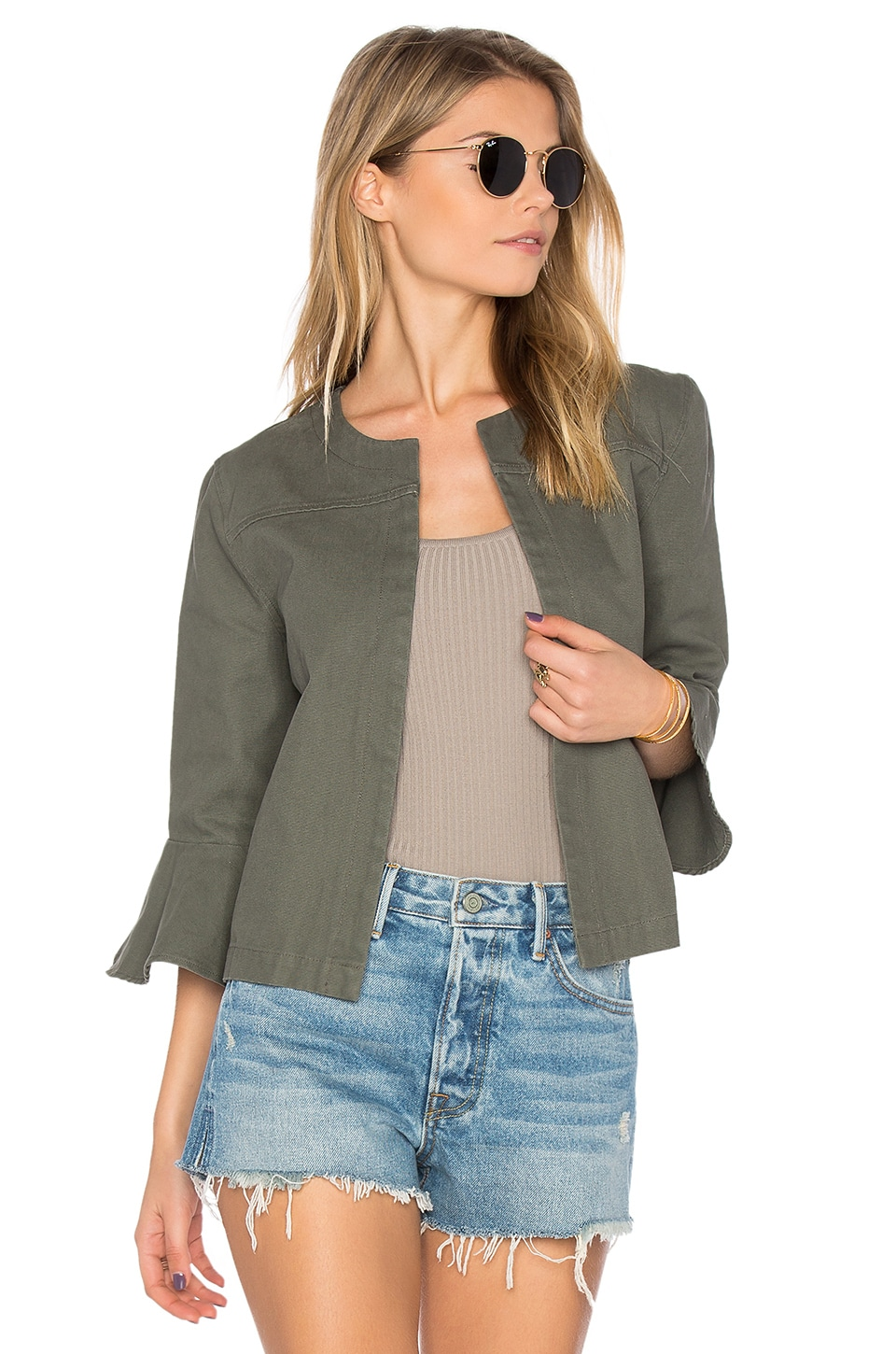 Ruffle Sleeve Jacket by LEO & SAGE