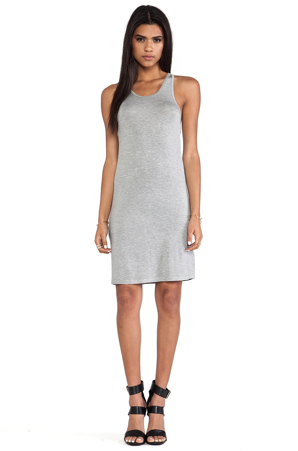 L'AMERICA The New Cool Jersey Dress in Grey Marle