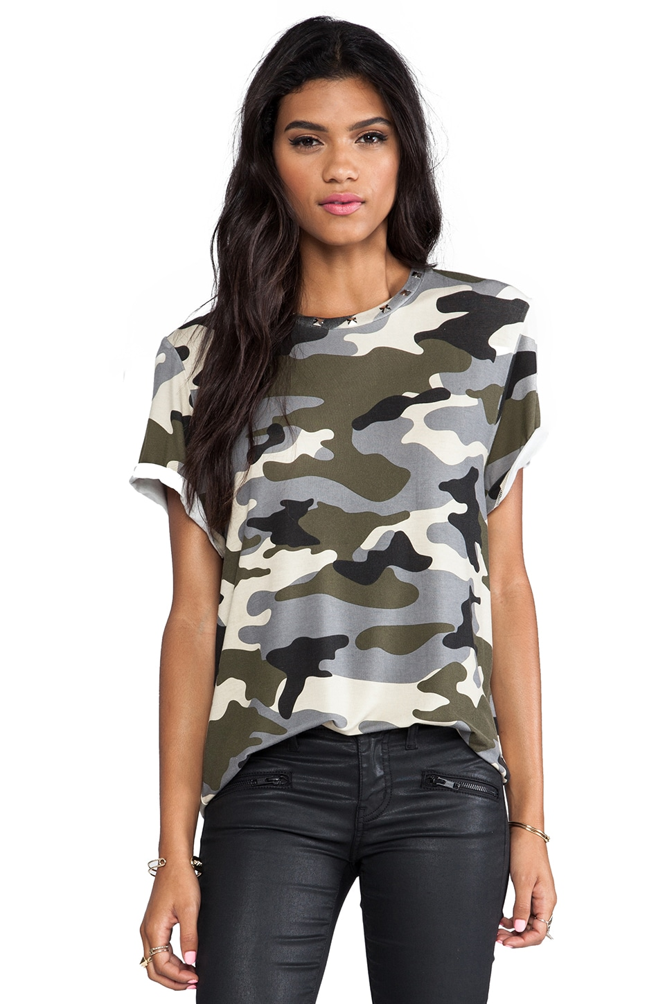 L'AMERICA Tank Girl Over Sized Tee in Camo