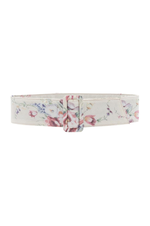 Loveshackfancy Belts LOVESHACKFANCY ELEANOR BELT IN WHITE.