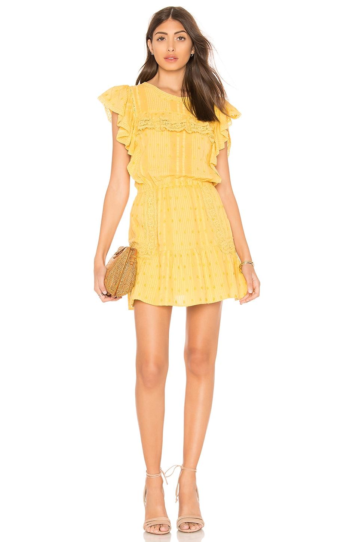 LoveShackFancy Whitney Dress in Marigold