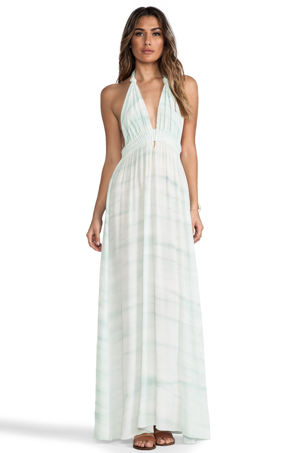 LoveShackFancy Love Dress in Faded Seafoam