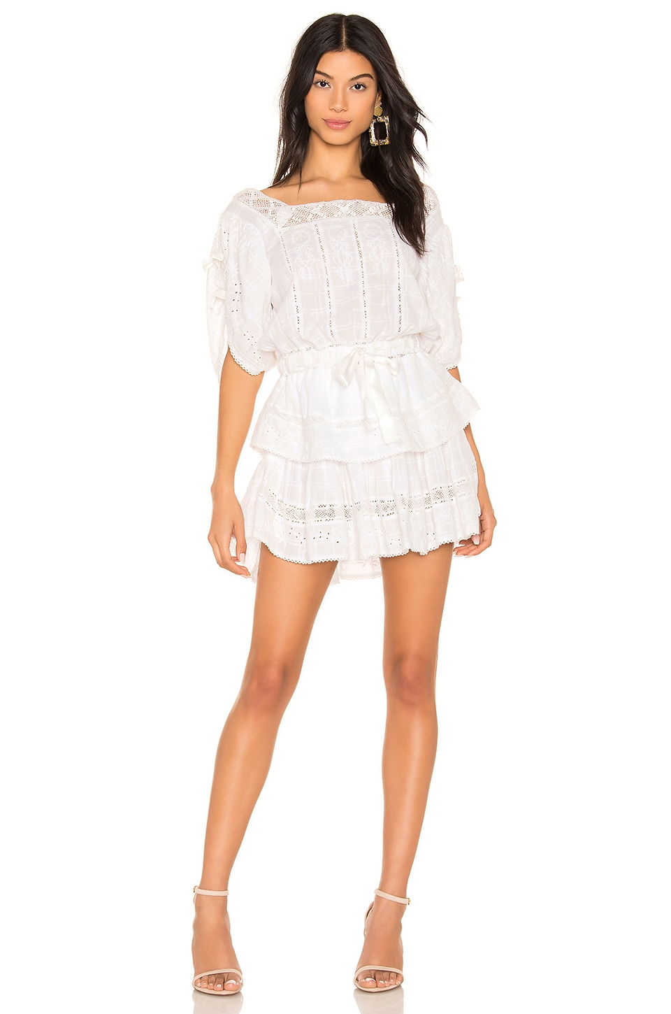 LoveShackFancy Dorothy Dress in White