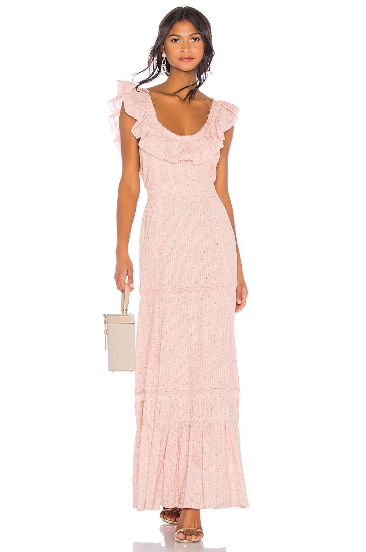 LoveShackFancy Joanne Dress in Rosemist